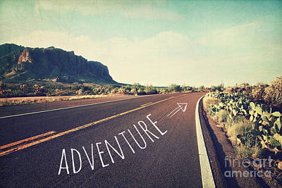 Superstition Mountains Wall Art - Photograph - Adventure by Sylvia Cook