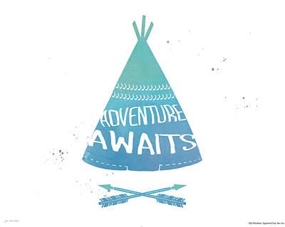 Adventure Teepee Print by Jo Moulton