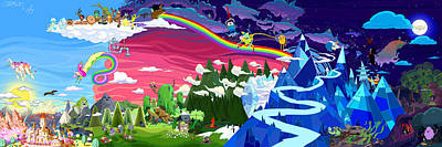 Trippy Digital Art - Adventure Time By Chase And Tim. by Chase Rennie and Tim wall