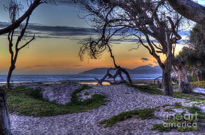 Adventures At Sunset Beach Art Print