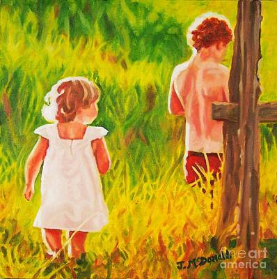 Painting - Adventures At The Farm by Janet McDonald