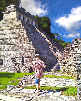 Photograph - Adventures At The Ruins Of Palenque by Mark E Tisdale