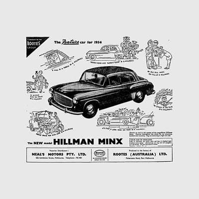 Photograph - Advert - 1954 Hillman Minx by Richard Reeve