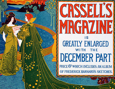 Frederick Drawing - Advertisement For Cassells Magazine by Louis John Rhead