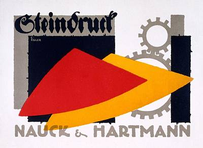 Cog Painting - Advertisement For Nauck And Hartmann by Carlo Egler