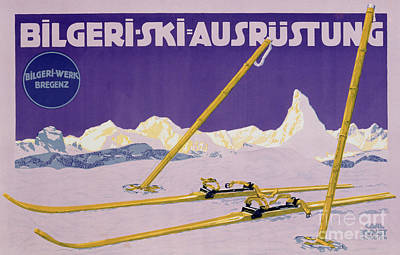 Ski Painting - Advertisement For Skiing In Austria by Carl Kunst