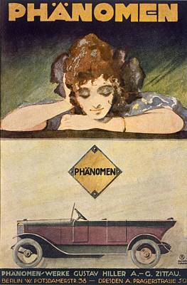1920s Drawing - Advertisement For The Phanomen Car by Behrmann