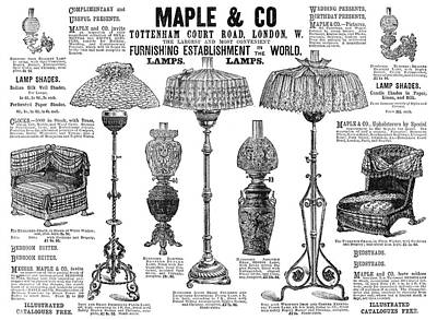Gas Lamp Painting - Advertisement Lamps, 1890 by Granger