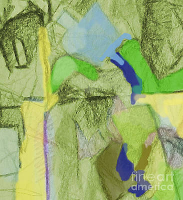 Inner Search Painting - Benefit Of Concealment 1aa by David Baruch Wolk