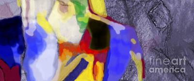 Inner Self Digital Art - Benefit Of Concealment 1ab by David Baruch Wolk