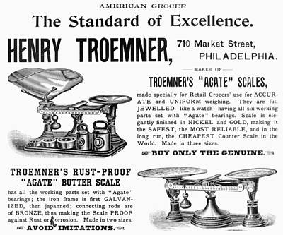 Grocer Painting - Advertisement Scales by Granger