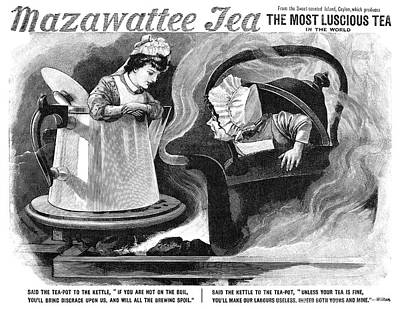 Teapot Painting - Advertisement Tea, 1893 by Granger