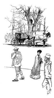 Sandwich Painting - Advertiser, 1880 by Granger