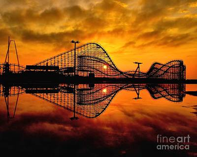 Adventure Pier At Sunrise Art Print
