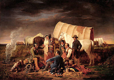 Western Art Digital Art - Advice On The Prairie by Wiliam Tylee Ranney