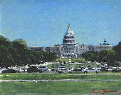 Capitol Building Painting - Advise And Consent by David Zimmerman