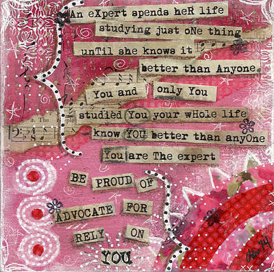 Advocate Mixed Media - Advocate For You by Lorie Fuller