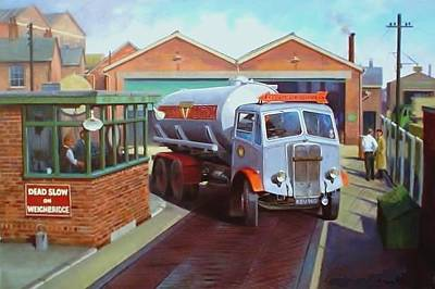 Rugby Painting - Aec Bulk Tanker by Mike Jeffries