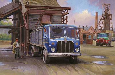 Aec Mercury Tipper. Art Print