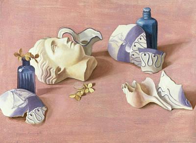 Aegean Frangments Wc On Paper Art Print