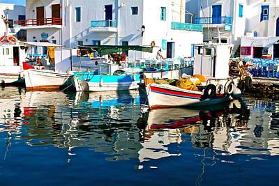Art Print featuring the photograph Aegean Harbor  by John Babis
