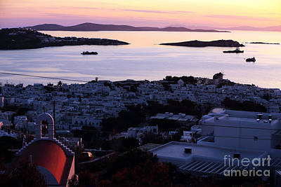 Photograph - Aegean Sunset At Mykonos by John Rizzuto