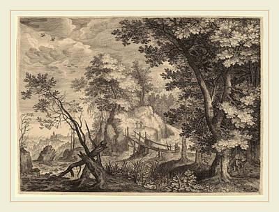 Woodlands Scene Drawing - Aegidius Sadeler II After Roelandt Savery Flemish by Litz Collection