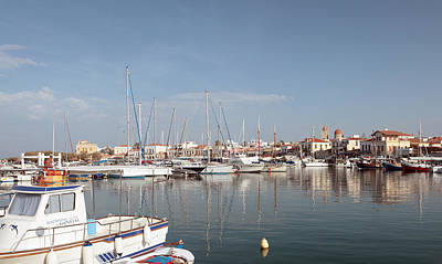 Photograph - Aegina Harbour View by Paul Cowan