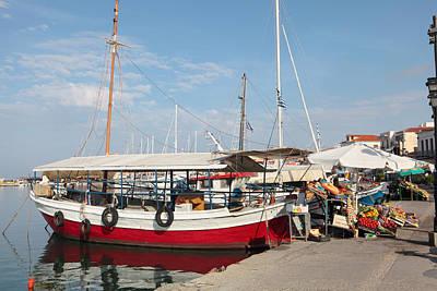 Photograph - Aegina Island Veg Stalls by Paul Cowan