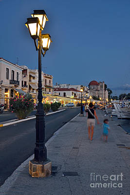 Photograph - Aegina Port During Dusk Time by George Atsametakis