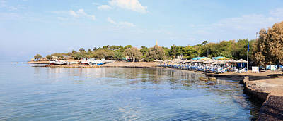 Photograph - Aegina Town Beach And Boatyard by Paul Cowan