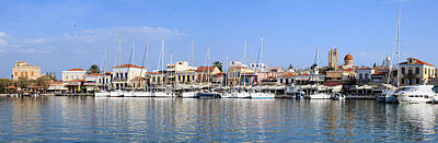 Photograph - Aegina Town Harbour  by Paul Cowan
