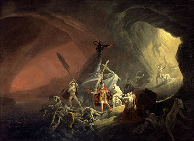Religious Artist Painting - Aeneas And The Sibyl, Unknown Artist, 19th Century by Litz Collection