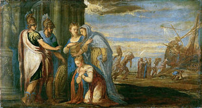 Aeneas Painting - Aeneas Taking Leave Of Dido by Andrea Schiavone