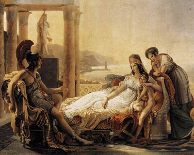 Aeneas Painting - Aeneas Tells Dido The Misfortunes Of The Trojan City by MotionAge Designs