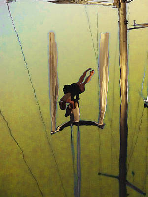 Aerial Acrobatic Artistry2  Art Print by Anne Mott