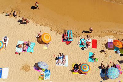 Photograph - Aerial, Albufeira Beach, Algarve by John Harper