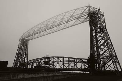 Photograph - Aerial Bridge In The Fog by Heidi Hermes