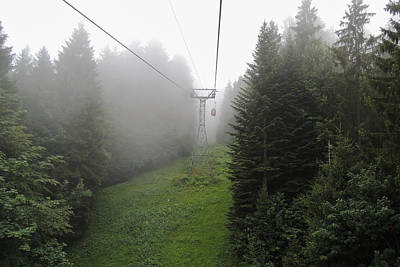Photograph - Aerial Cable Cars On Mount Pilatus by Marilyn Burton