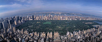 Aerial Central Park New York Ny Usa Art Print by Panoramic Images