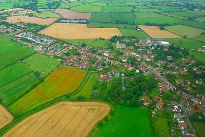 Photograph - Aerial England by Denise Mazzocco