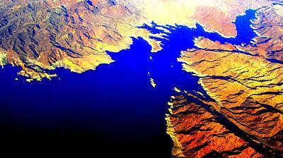 Photograph - Aerial Lake Mead by Michelle Dallocchio