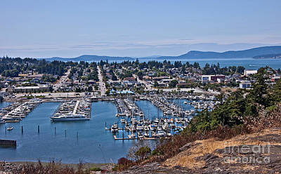Photograph - Aerial Landscape Of Anacortes Washington by Valerie Garner
