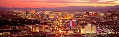Aerial Las Vegas Nv Usa Art Print by Panoramic Images