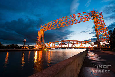 Aerial Lift Bridge Art Print by Adahm Faehn