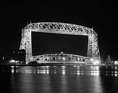 Photograph - Aerial Lift Bridge Duluth Minnesota by Heidi Hermes