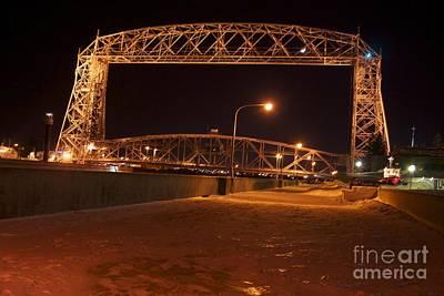 Aerial Lift Bridge Art Print by Kevin Jack