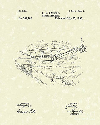 Aerial Machine 1893 Patent Art Art Print