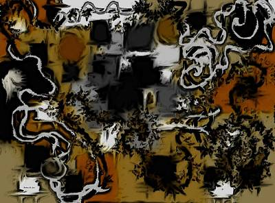 Digital Art - Aerial Map Abstract In Yellow by Barbara St Jean