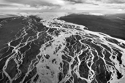 Photograph - Aerial Of Braided River by E.r. Degginger